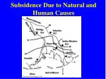 subsidence due to natural and human causes