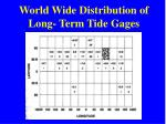 world wide distribution of long term tide gages