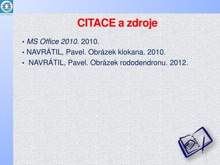 CITACE a zdroje