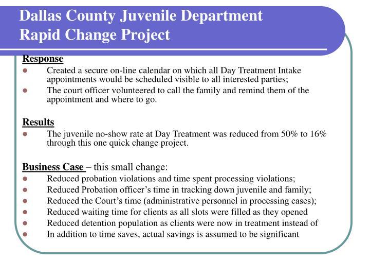Dallas County Juvenile Department
