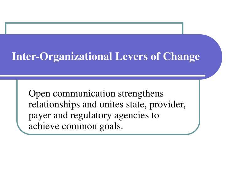 Inter-Organizational Levers of Change