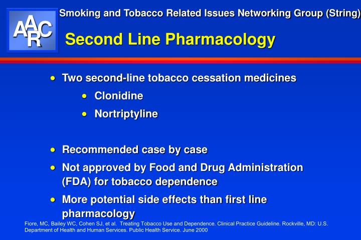 Second Line Pharmacology