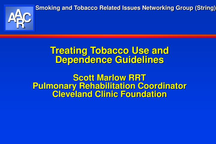 Treating Tobacco Use and