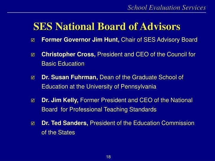 SES National Board of Advisors
