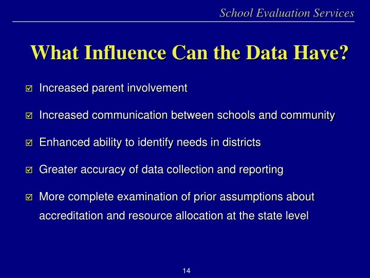 What Influence Can the Data Have?