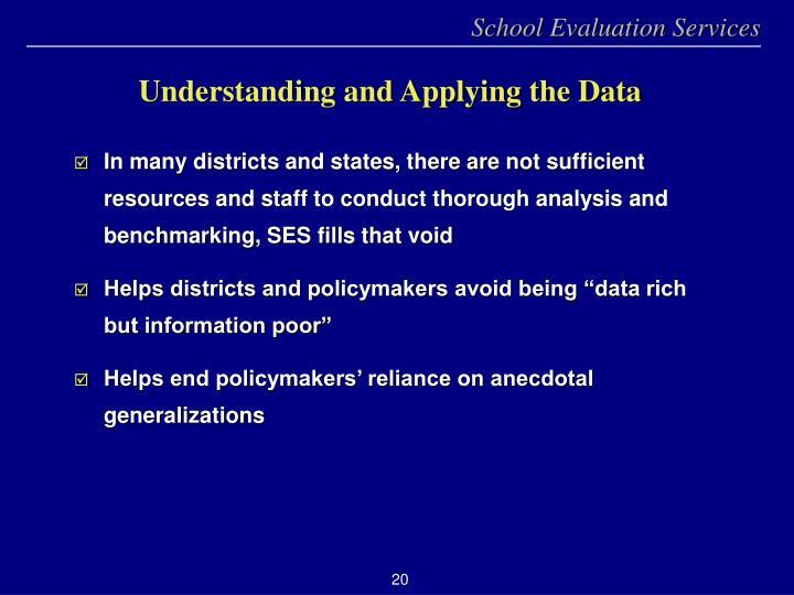 Understanding and Applying the Data