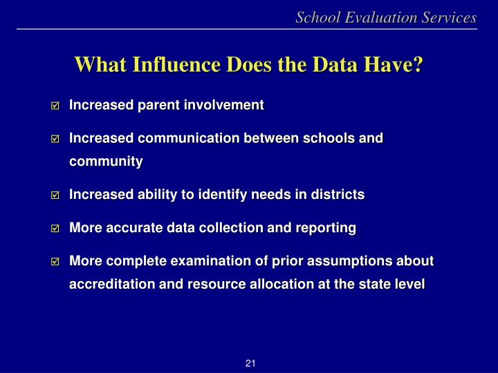 What Influence Does the Data Have?