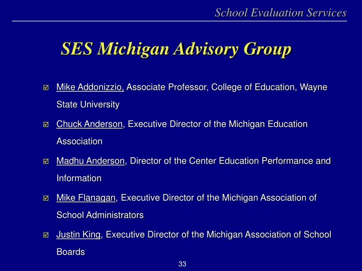SES Michigan Advisory Group