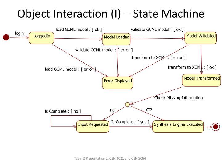 Object Interaction (I) – State Machine