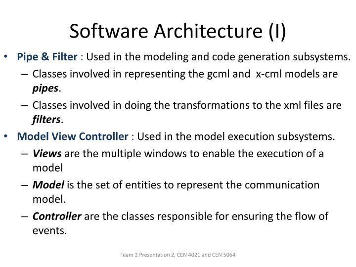 Software Architecture (I)