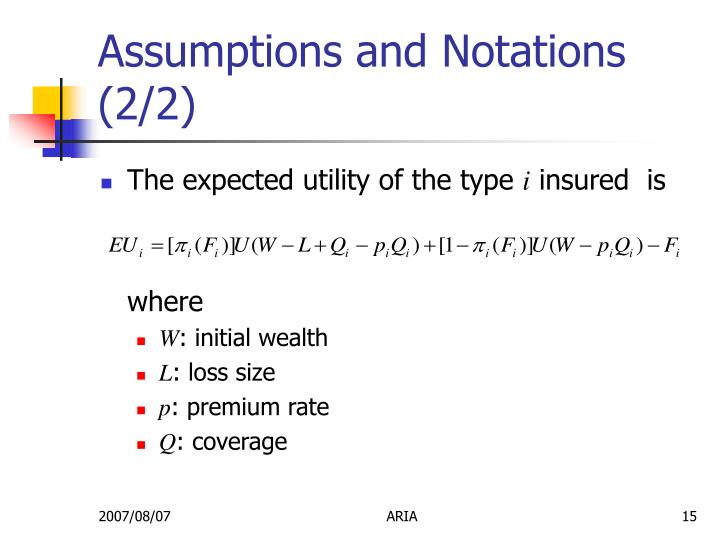 Assumptions and Notations (2/2)