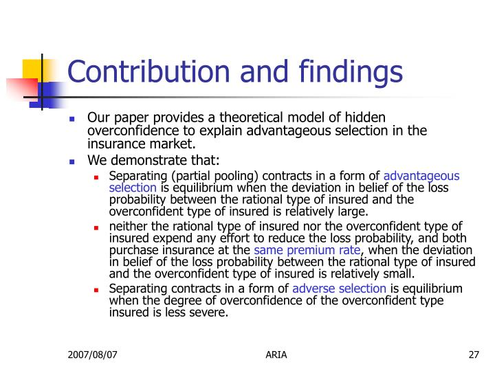 Contribution and findings