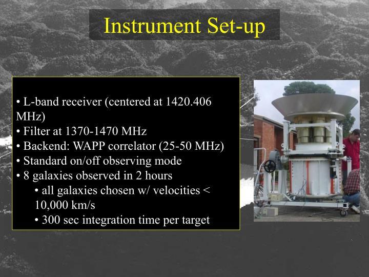 Instrument Set-up