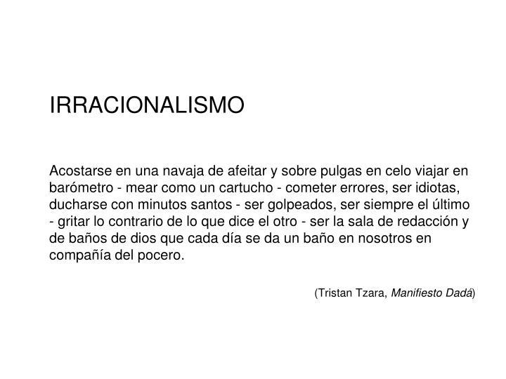 IRRACIONALISMO