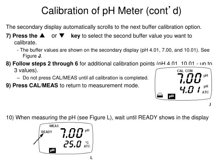 Calibration of pH Meter (cont