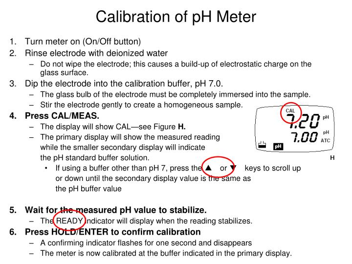 Calibration of ph meter