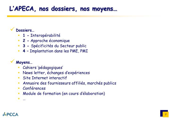 Dossiers…
