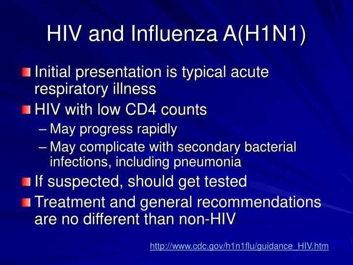 HIV and Influenza A(H1N1)