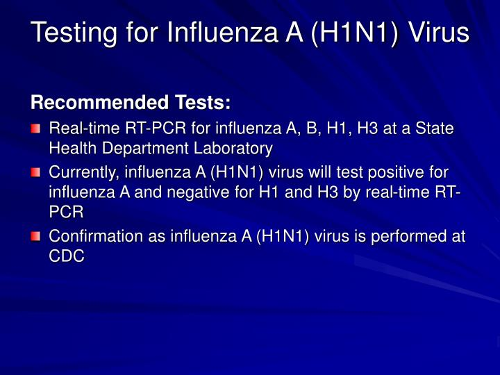 Testing for Influenza A (H1N1) Virus