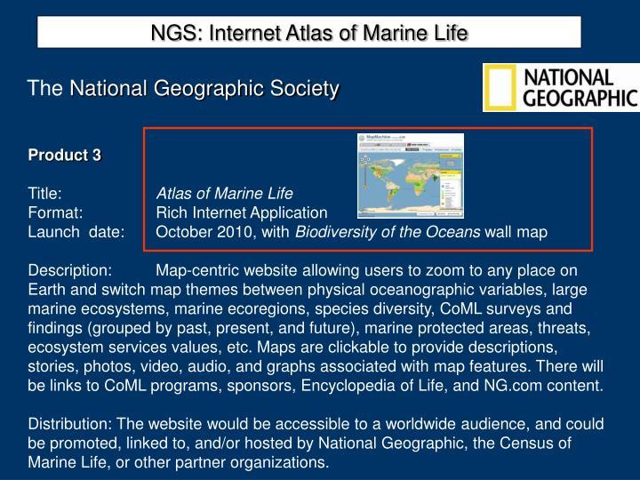 NGS: Internet Atlas of Marine Life