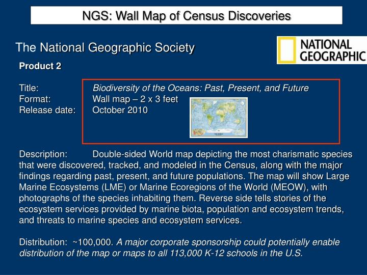 NGS: Wall Map of Census Discoveries