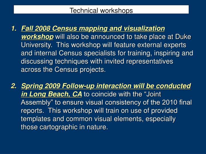 Technical workshops
