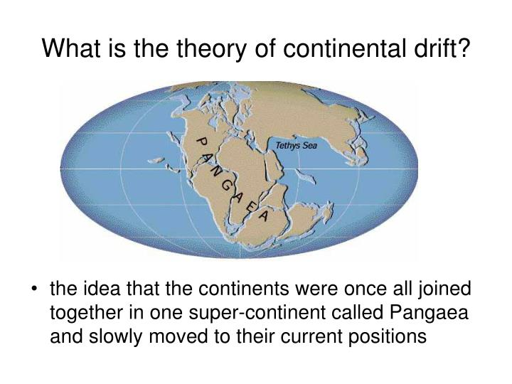 What is the theory of continental drift?
