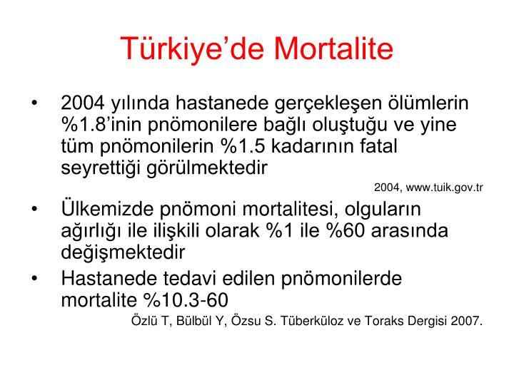 Türkiye'de Mortalite