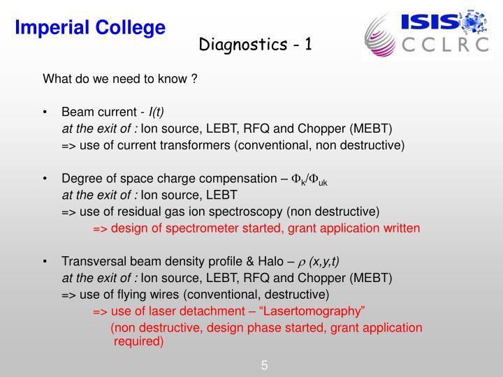 Diagnostics - 1