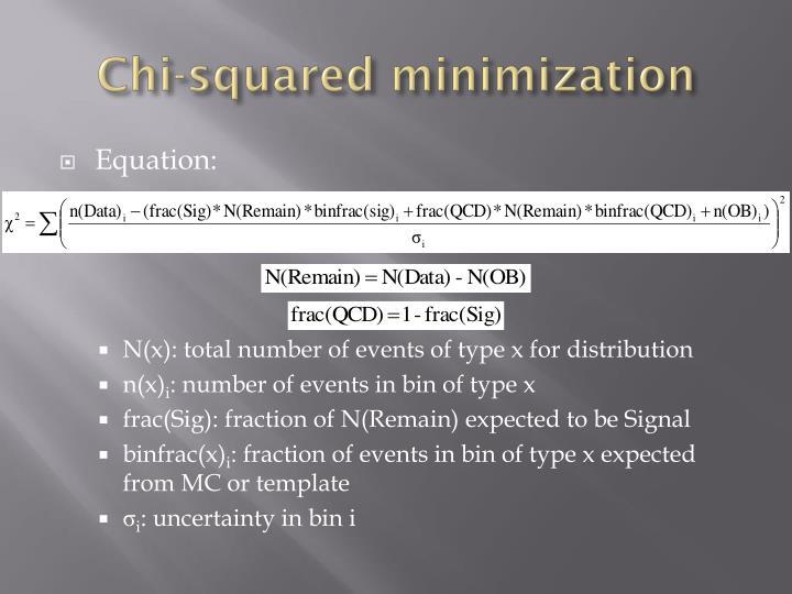 Chi-squared minimization