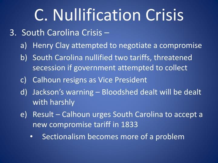 Essay on nullification crisis