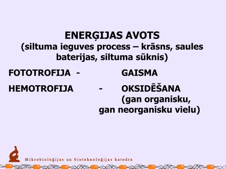 ENERĢIJAS AVOTS