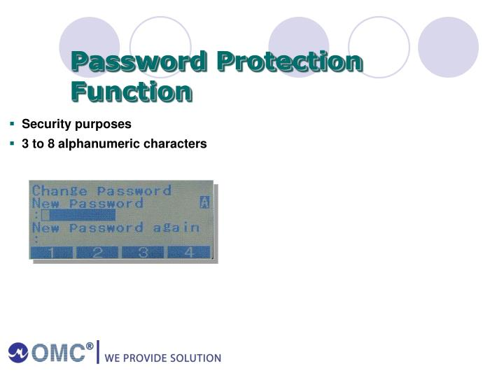 Password Protection Function