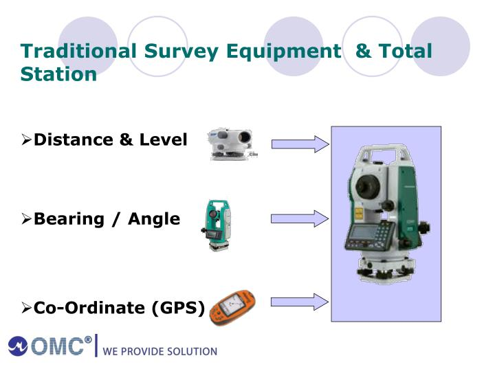 Traditional Survey Equipment  & Total Station