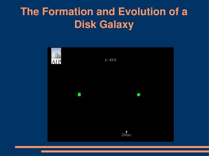 The Formation and Evolution of a Disk Galaxy