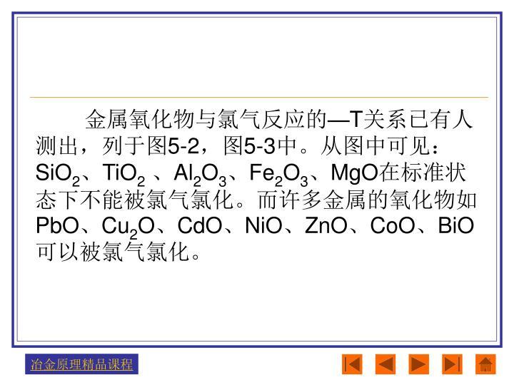金属氧化物与氯气反应的