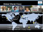 global olarak cisco