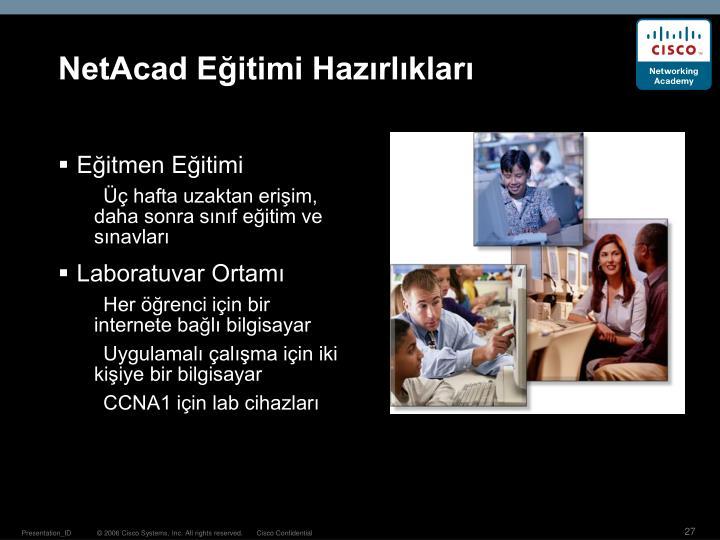 NetAcad Eğitimi Hazırlıkları