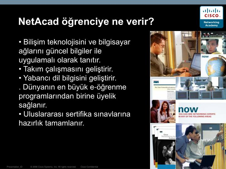 NetAcad öğrenciye ne verir?