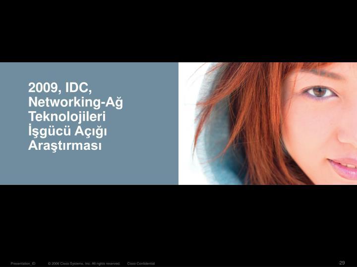 2009, IDC, Networking-Ağ Teknolojileri İşgücü Açığı Araştırması