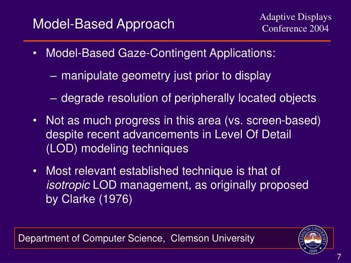 Model-Based Approach
