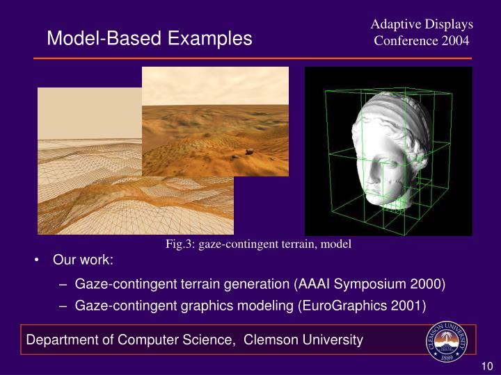 Model-Based Examples
