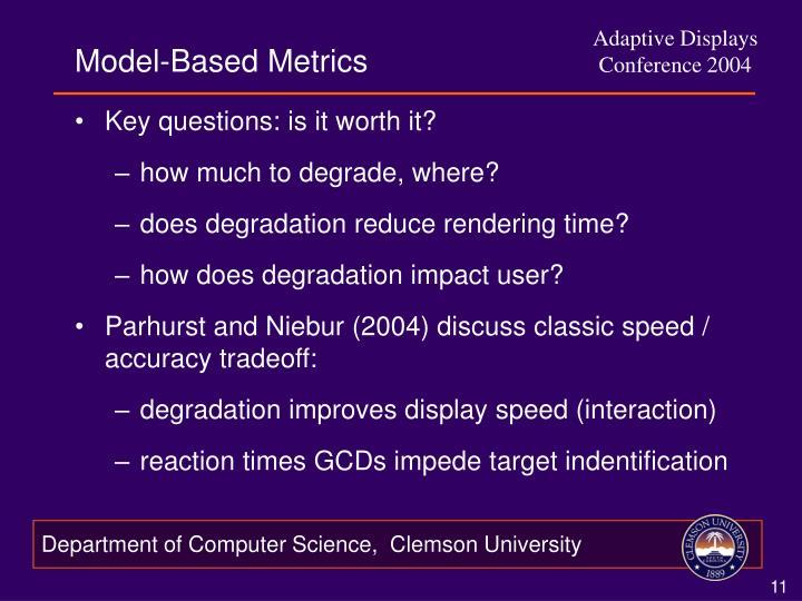 Model-Based Metrics