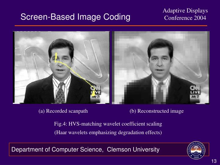 Screen-Based Image Coding