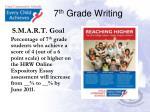 7 th grade writing
