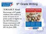9 th grade writing