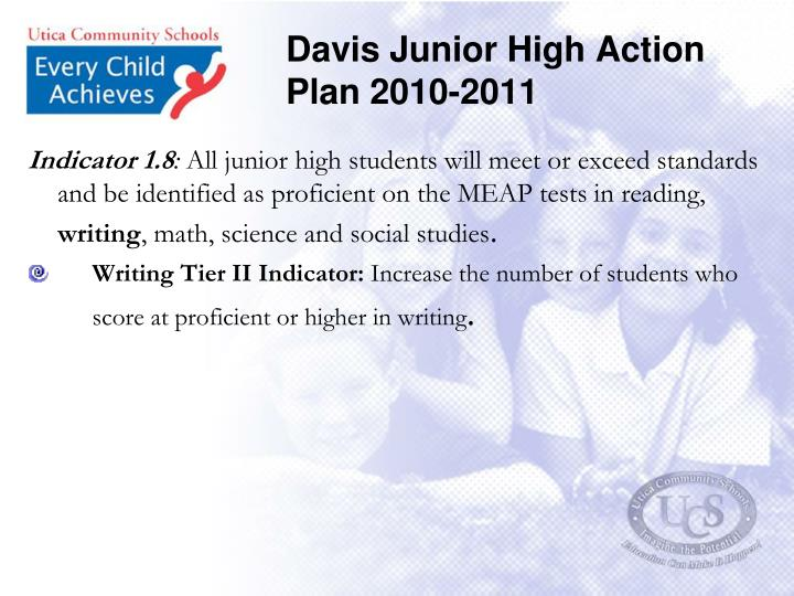 Davis Junior High Action Plan 2010-2011