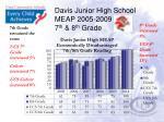 davis junior high school meap 2005 2009 7 th 8 th grade1