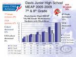 davis junior high school meap 2005 2009 7 th 8 th grade5
