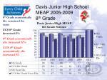 davis junior high school meap 2005 2009 8 th grade